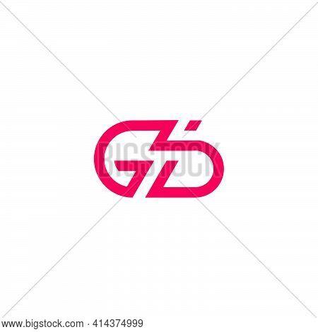 Letter Gb Simple Line Geometric Logo Vector