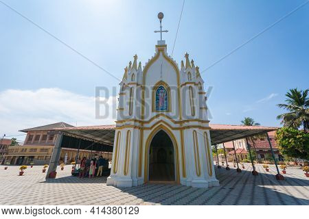 St.george Forane Church, Edathua Is The Major Pilgrim Centre Of The Area.