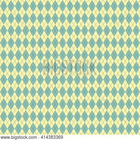 Easter Argyle Plaid. Pattern Scottish Cage