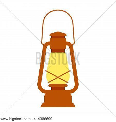 Vintage Kerosene Lantern. Vector Element, Template For The Design.