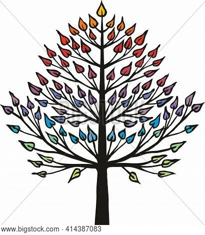 Vector Drawing Of An Abstract Tree Suitable For Pedigree