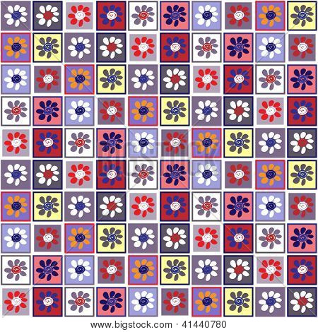 art vintage geometric pattern, violet background