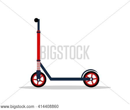 Modern Electric Scooter. Ecological City Transport. Environmentally Friendly Alternative Vehicles. V