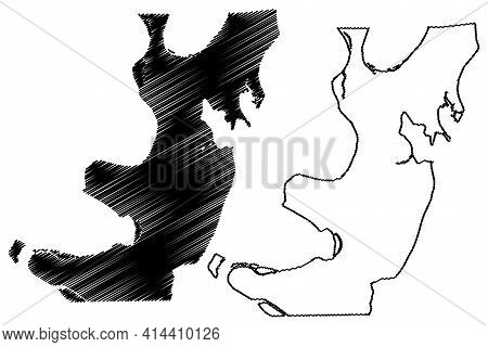 Lake County, State Of Tennessee (u.s. County, United States Of America, Usa, U.s., Us) Map Vector Il