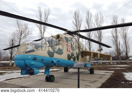 Russia, Engels - March,2021: Russia Air Force Air Force Attack Helicopter Mi.