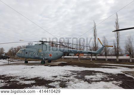 Russia, Engels - March,2021: Russia Air Force Air Force Attack Helicopter Mi - 8