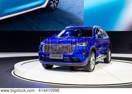 Nonthaburi, Thailand - March 25,2021 : View Of All New Haval H6 Car On Display At Thailand Internati