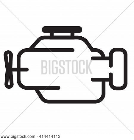 Symbol Of Internal Combustion Engine Simple Thin Line Vector