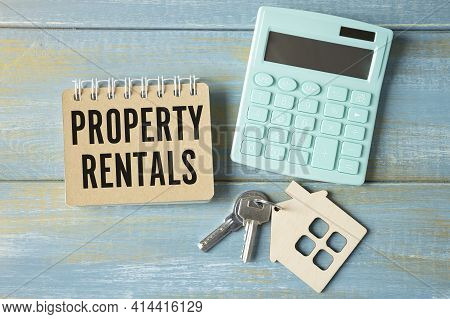 Notebook With Tools And Notes With Text Property Rentals