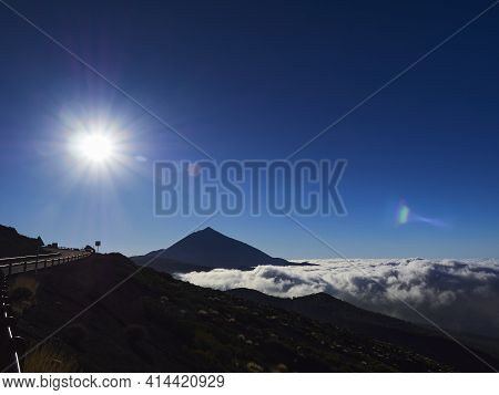 El Teide Is A Volcano And The Highest Peak On The Island Of Tenerife, Spain. A Popular Travel Destin