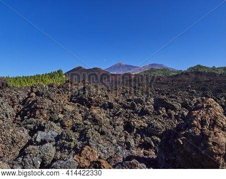 Volcanic Landscape Of El Teide On Tenerife Island, Spain.