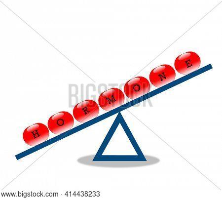 Woman hormonal imbalance illustration concept