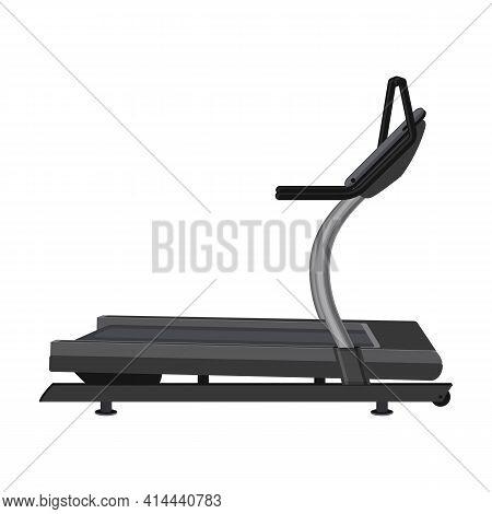 Treadmill Vector Icon.cartoon Vector Icon Isolated On White Background Treadmill.