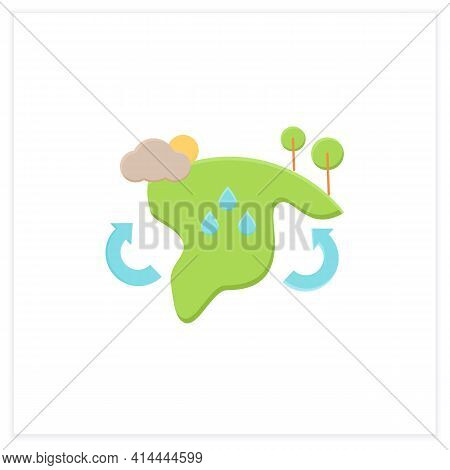 Biome Flat Icon. Collection Of Plants And Animals That Have Common Characteristics For The Environme