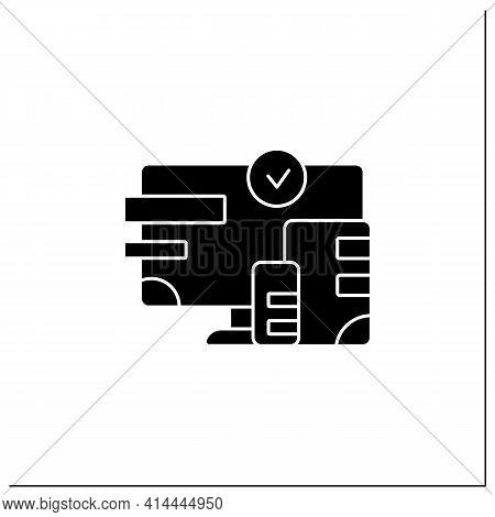 Cross Platform Design Glyph Icon. Website Design. Icons, Appearance, Labels. Creating On Laptop. Dig