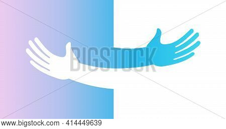 Human Hugs, Hugging Hands, Support And Love Symbol, Hugged Arms Girth Silhouette, Unity And Warmth F