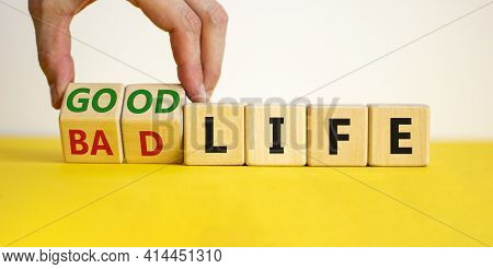 Good Life Concept For Fresh Start, New Year Resolution, Dieting And Healthy Lifestyle. Businessman T