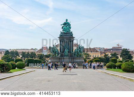 Empress Maria Theresia Monument On Maria-theresien-platz Square, Vienna, Austria - April 2019