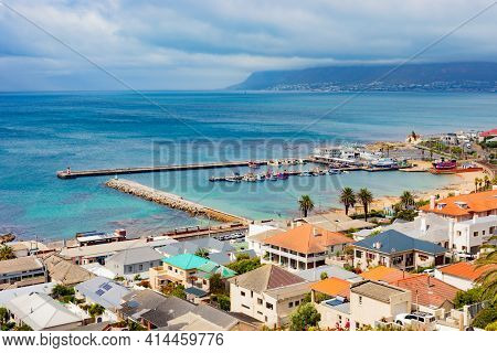 Elevated View Of Kalk Bay Harbour In False Bay, South Africa