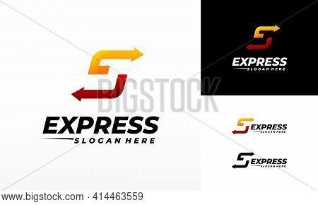 Fast Forward Express Logo Designs Vector, Modern Express S Initial Logo Template