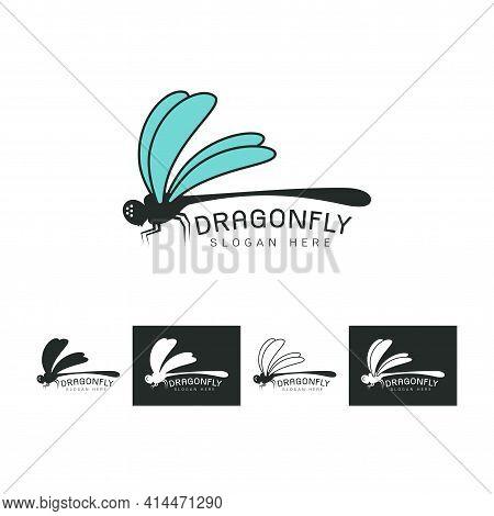 Set Of Beautiful Logo Icon Dragonfly,stylized Image Of Dragonfly Logo Template,dragonfly Tattoo,drag