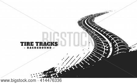 Abstract Winding Tire Track Mark Backgroundvector Template Design