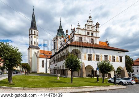 Old Town Hall and St. James church in Levoca, UNESCO site, Slovakia