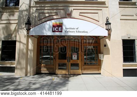 Pasadena CA - MARCH 26, 2021: Institue of Culinary Education aka ICE in Pasadena California. Editorial Use Only.