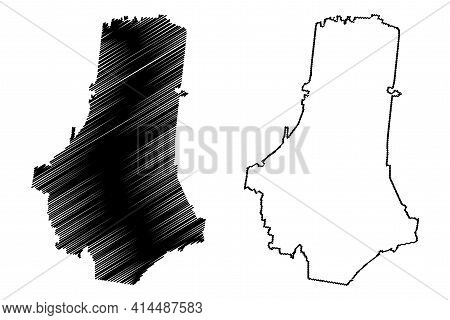 Marshall County, State Of Tennessee (u.s. County, United States Of America, Usa, U.s., Us) Map Vecto