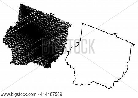 Maury County, State Of Tennessee (u.s. County, United States Of America, Usa, U.s., Us) Map Vector I