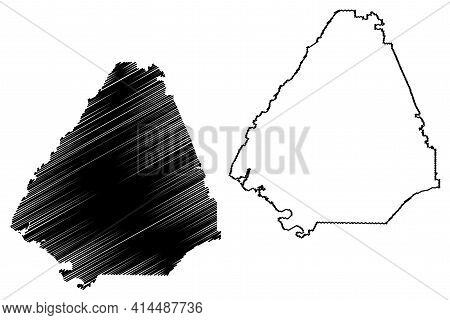 Mcminn County, State Of Tennessee (u.s. County, United States Of America, Usa, U.s., Us) Map Vector