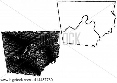 Montgomery County, State Of Tennessee (u.s. County, United States Of America, Usa, U.s., Us) Map Vec