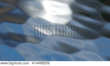 Silver chrome metal texture with waves, cracked silver metallic wavy design, 3D render illustration.