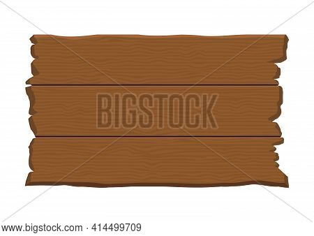 Retro Hanging Brown Wooden Plank Sign Board Vector