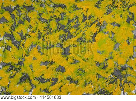 Oil Painting Abstrac Texture.  Oil Painting Floral For Background. Modern Art Paintings Chaotic Abst