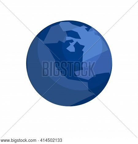 Earth Globes Isolated On White Background. Flat Planet Earth Icon. Stock Vector Illustration.