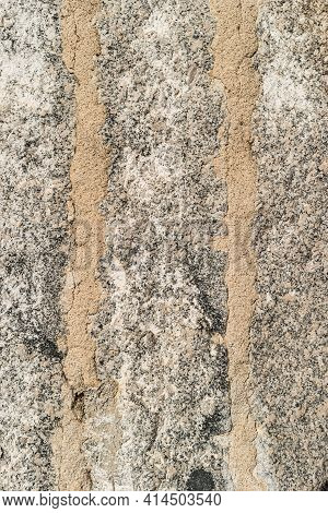 Granite Stone Wall Background. The Texture Of The Stone. Old Castle Wall Background. Stone Wall As A