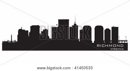 Richmond Skyline. Detailed City Silhouette