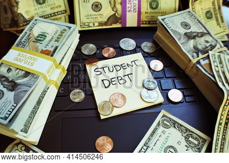 Student Loan Debt Piling Up From Forbearance And High Interest Rates On Huge Tuition Loans Taken Out