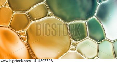 Water bubbles abstract colorful  background, blue water drops macro as natural backgound.