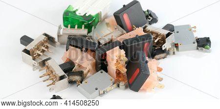 different radio electronic components. radio components