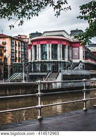 Mercado De La Ribera In Bilbao, Bizkaia, Basque Country, Spain.