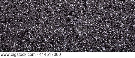 Natural Stone, Grey, Black And White Granite Texture, Granite Surface And Background, Panoramic Imag