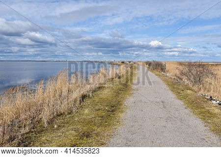 Footpath Along The Coastline In The Nature Reserve Beijershamn On The Swedish Island Olabd