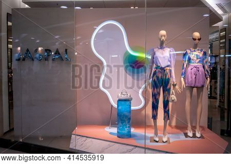 Jaspal Shop At Paradise Park, Bangkok, Thailand, Mar 21, 2021 : Fashionable Clothing Brand In Summer
