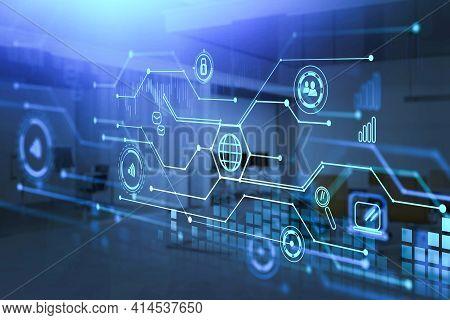 Digital Interface That Illustrate Internet Communication, International Cooperation, Business Relati