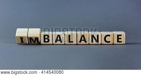 Balance Or Imbalance Symbol. Turned Cubes And Changed The Word Imbalance To Balance. Beautiful Grey