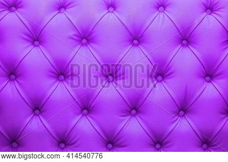 Purple Natural Leather Sofa Upholstery Texture Background.