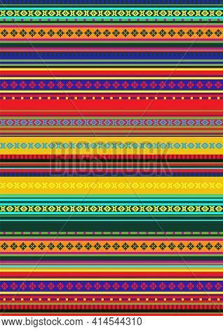 Ethnic Seamless Pattern. Traditional Ornament Background. Folk Ornamental Texture. Bright Colors. Me