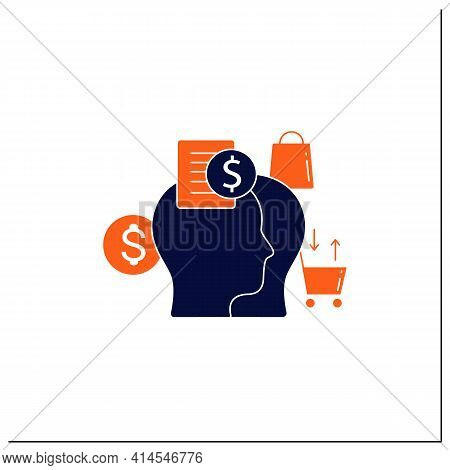 Accountability Partner Glyph Icon. Find An Accountability Partner. Trusted Person. Thoughtful Spendi